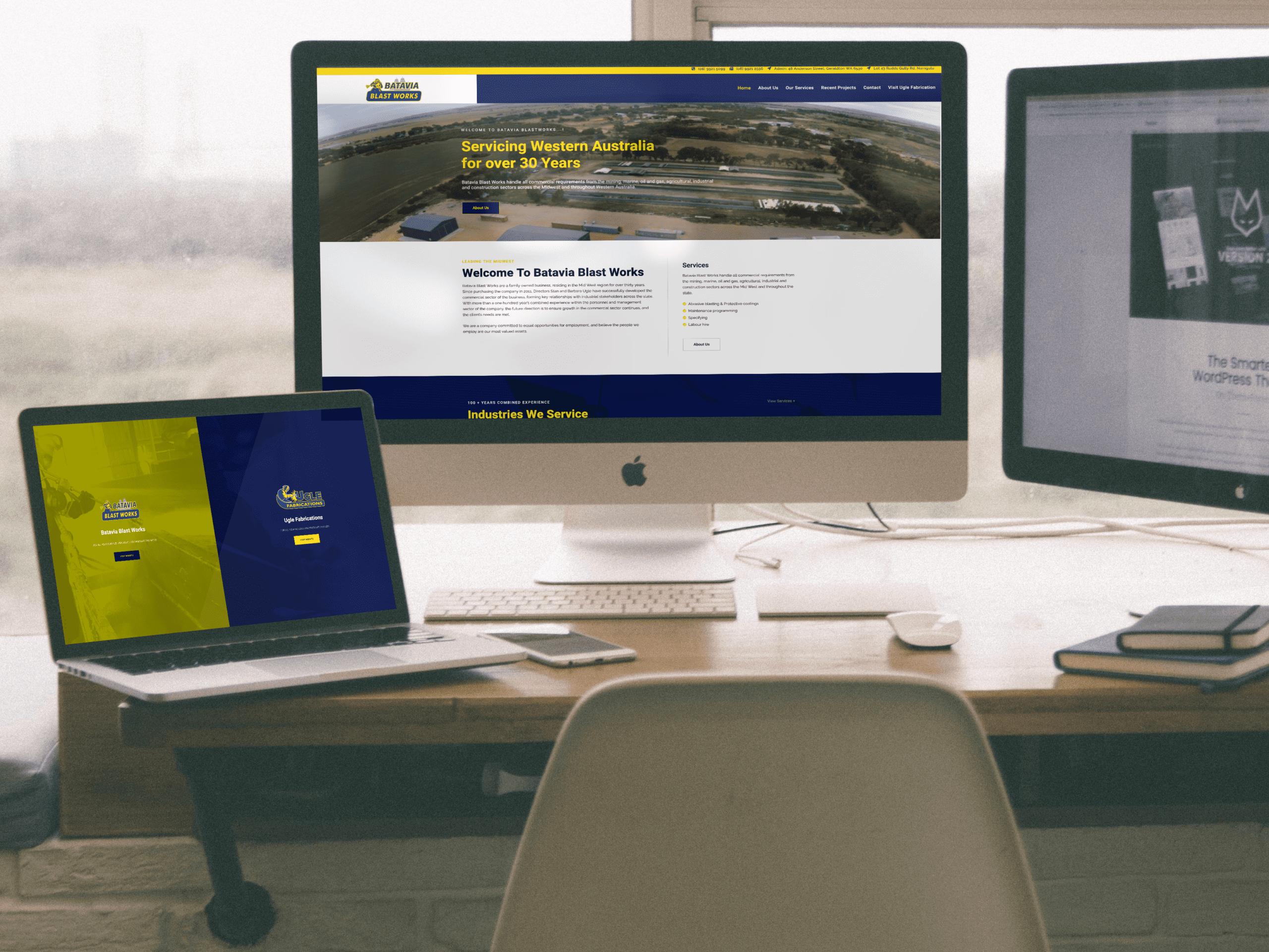 Batavia Blast works website design