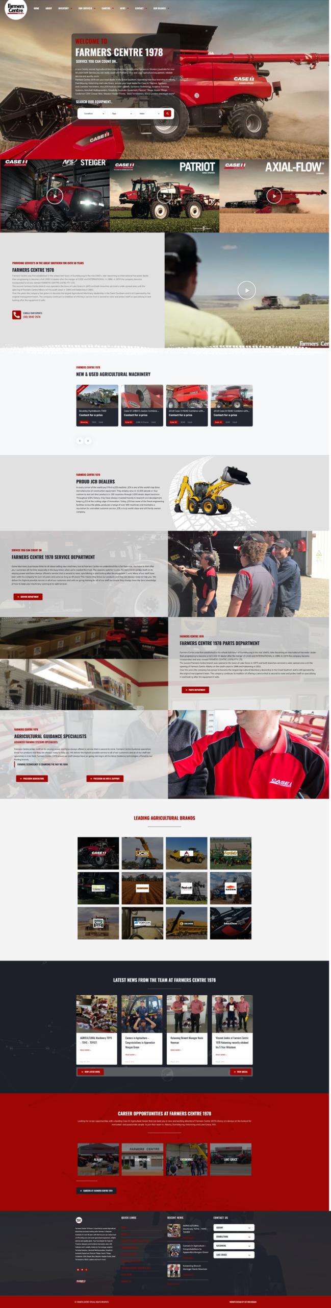 Farm Machinery Dealer Websites Case IH